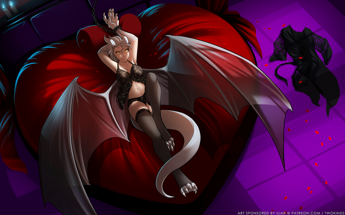 Humanoid Nora - Bedroom Фурри, Tom Fischbach, TwoKinds, Lady Nora, Furotica, Furry art, Furry dragon