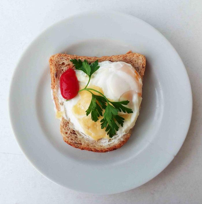 Быстрый  бутерброд с яйцом Бутерброд, Быстрое питание, Свч, Длиннопост