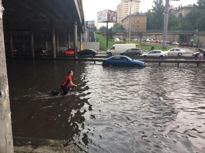 Киев после дождика 25.07.18 Киев, Фотография, ЧП, Дождь, Буря, Длиннопост