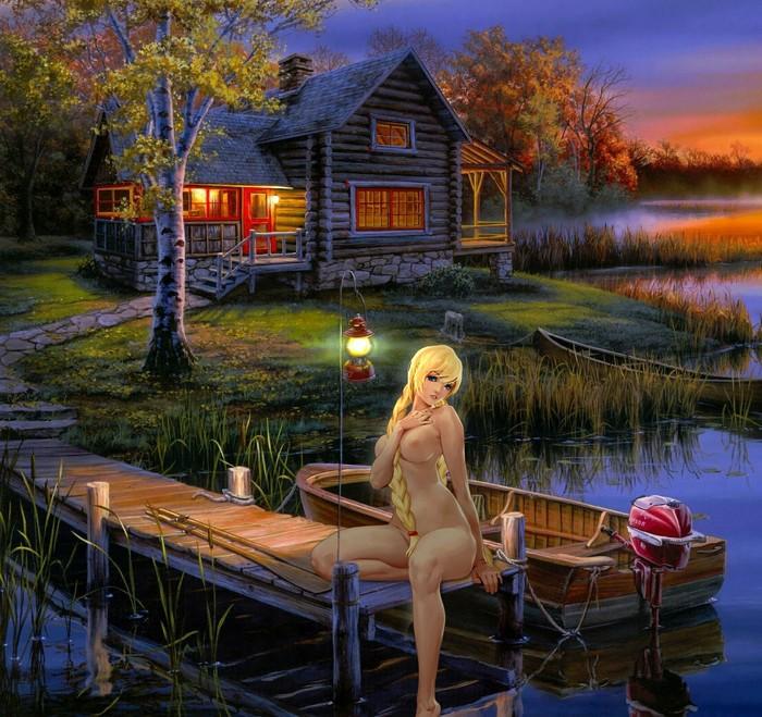 Звонко плещется водица тихой заводи реки лесной...