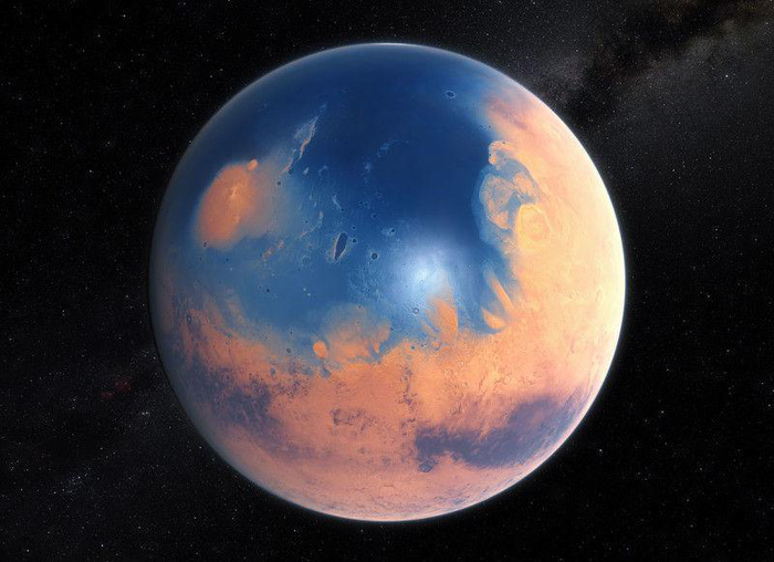 Марс такой, каким об был 4 млрд лет назад. Марс, Космос, Вода на Марсе