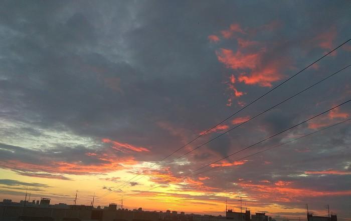 Немного красивых закатов на телефон) Закат, Красота, Длиннопост