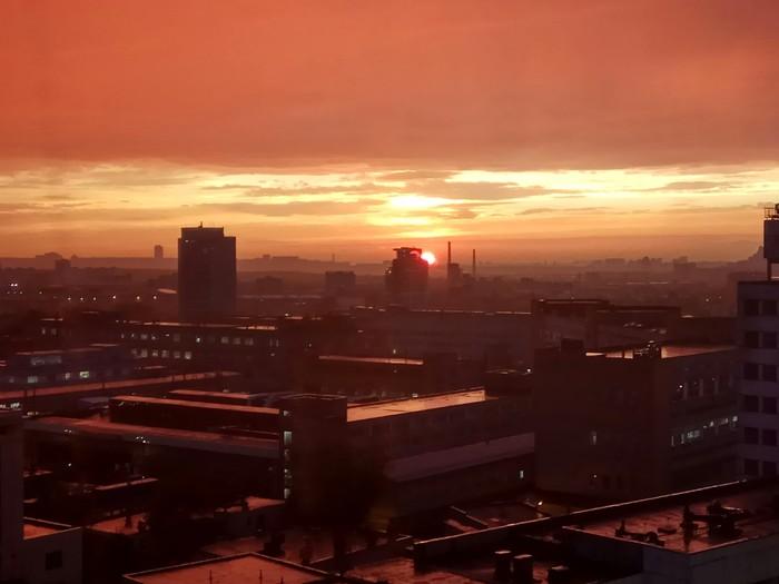 Красивый закат в Москве Фотография, Закат, Красивое