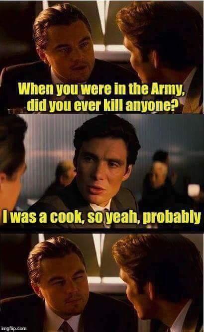 Ты когда в армии служил, убивал? Мемы, Леонардо, Армия, Повар