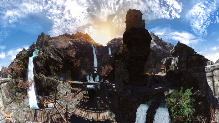 Немного магии Skyrim, Photoshop, Панорама, Графика, Hdr, Длиннопост