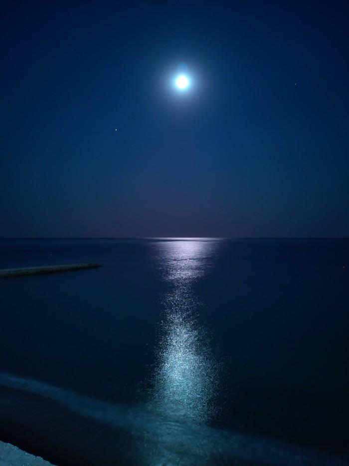 Лунный свет Крым, Судак, Ночь, Луна