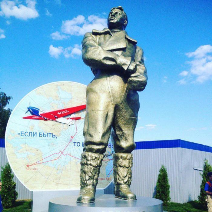 В «Кубинке» восстановили памятник Валерию Чкалову Валерий Чкалов, Памятник, Память