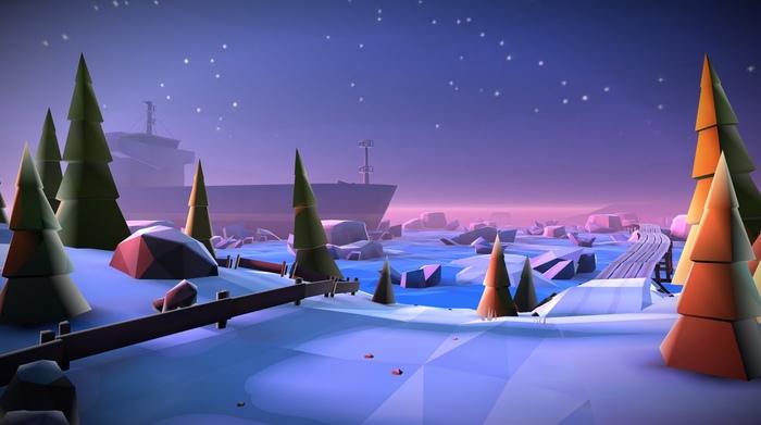 Сцены в полигональном стиле для одного мобильного проекта Low poly, Gamedev, Unity3d, Полигональная графика, Level design, Дизайн уровней, Разработка игр, Длиннопост