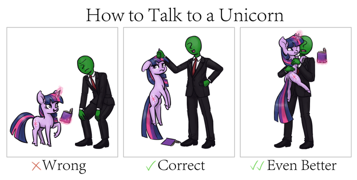 Правильное общение с единорожкой My little pony, Twilight Sparkle, Anon, King-Kakapo