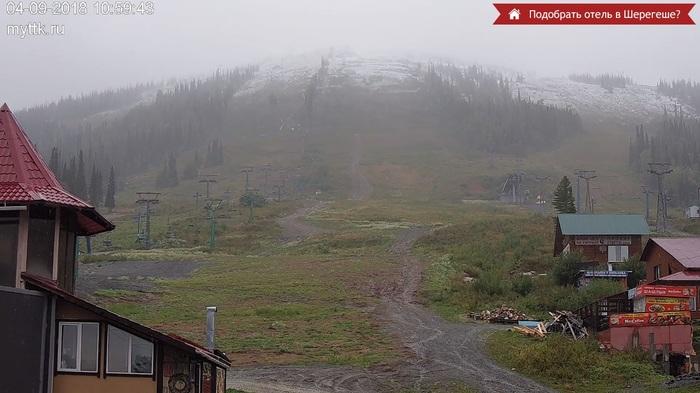 С первым снегом, Кузбасс! Первый снег 2018, Кузбасс, Шерегеш, Гора Зеленая