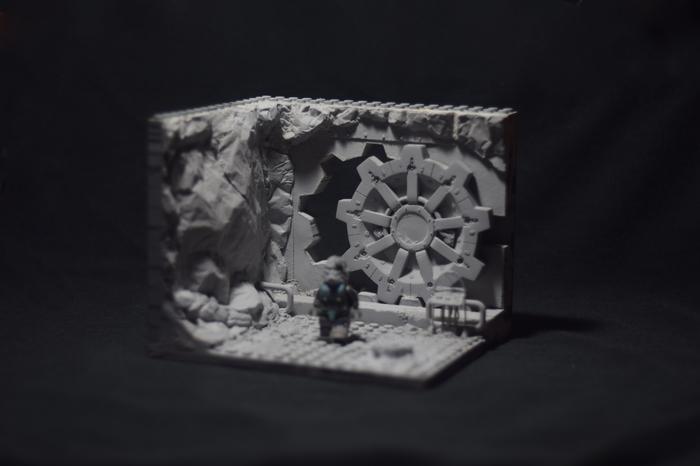 """Лего-диорама """"Вход в убежище"""" по вселенной Fallout. Часть вторая. Fallout, LEGO, Custom, Кастомизация, Самоделки, Длиннопост"""
