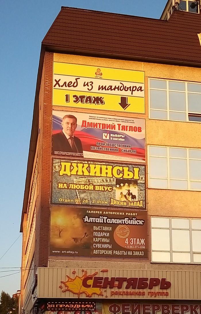 Новоиспеченный депутат Реклама, Выборы, Бийск