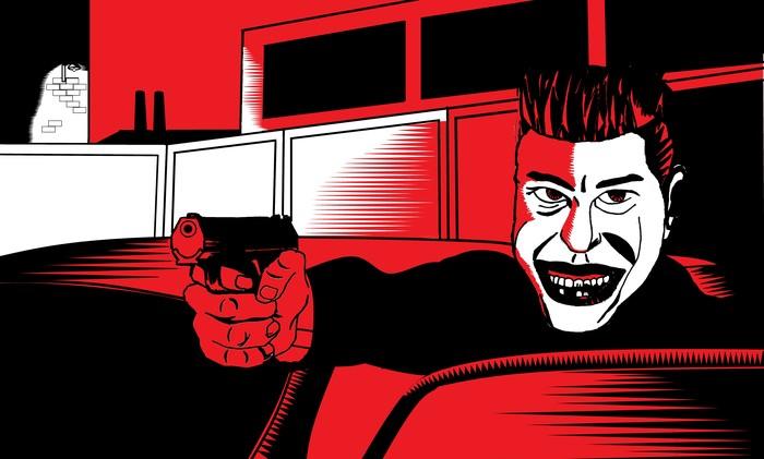Улыбнись дьяволу :D Kmfdm, Плакатный стиль, Загнанный в угол