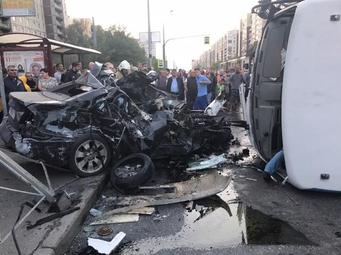 BMW vs маршрутка ДТП, Авария, Санкт-Петербург, Негатив, Маршрутка, Видео, Длиннопост