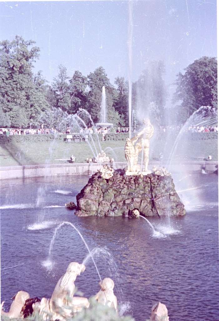 Петергоф в августе 1969 Петергоф, 1969, Фонтан, Дворец, Длиннопост