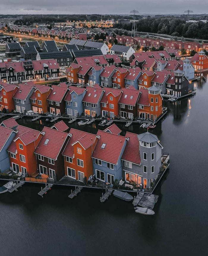 Reitdiephaven (Groningen) Нидерланды, Гронинген, Архитектура, На воде, Идеально