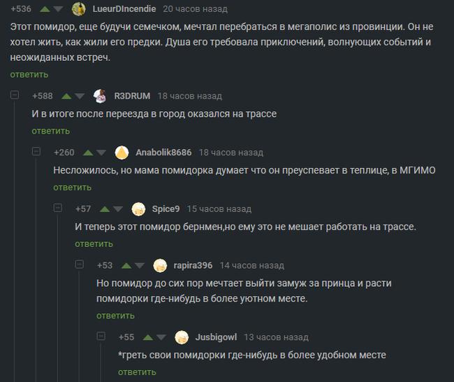 Судьба провинциального помидора Комментарии, Помидор