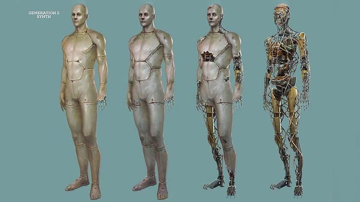 Fallout 4: Ретекстур Gen2 синтов Игры, Моды, Fallout 4, Detroit: Become Human, Zbrush, Синты, Видео, Длиннопост