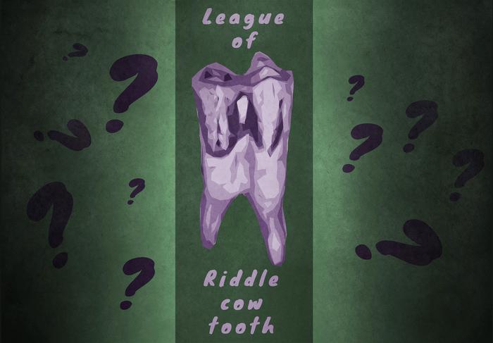 Лига загадочного коровьего зуба Зубы, Посты на Пикабу, Лига палеонтологии, Загадочник, Тенденция, Юмор