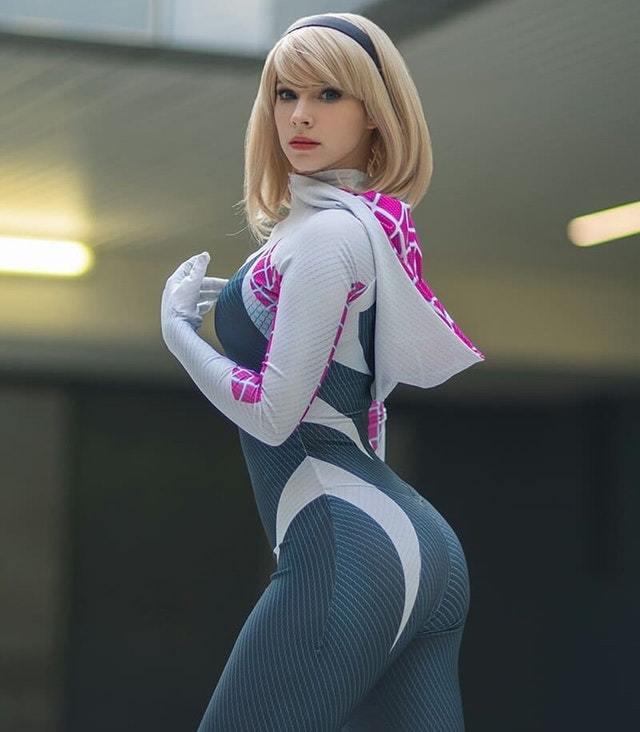 Spider-Gwen cosplay by Enji Night Косплей, Enji Night, Spider-Gwen, Длиннопост