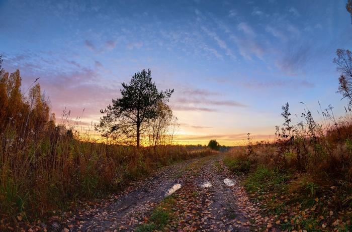 Сибирская осень Осень, Сибирь, HDR, Природа, Длиннопост, Фишай