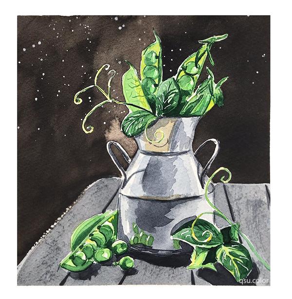 Картинки из скетчбука 3 Акварель, Рисунок, Перец, Натюрморт, Творчество, Скетчбук, Пейзаж, Длиннопост, Горы