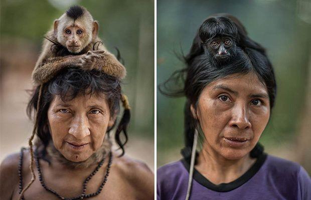 Притаилась Обезьяна, Индейцы, Длинные волосы