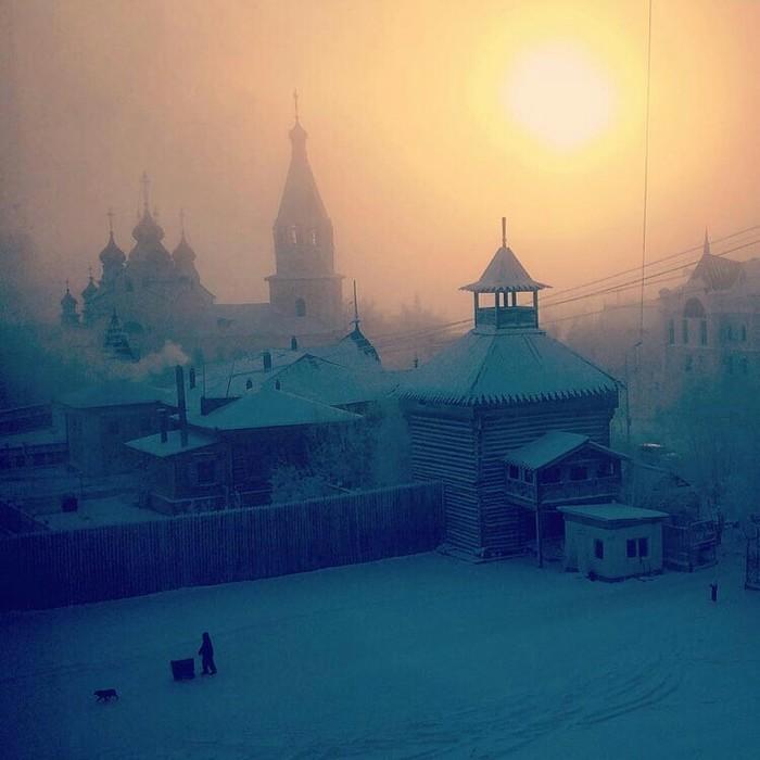 Утренний Якутск в -45 (2016 год)