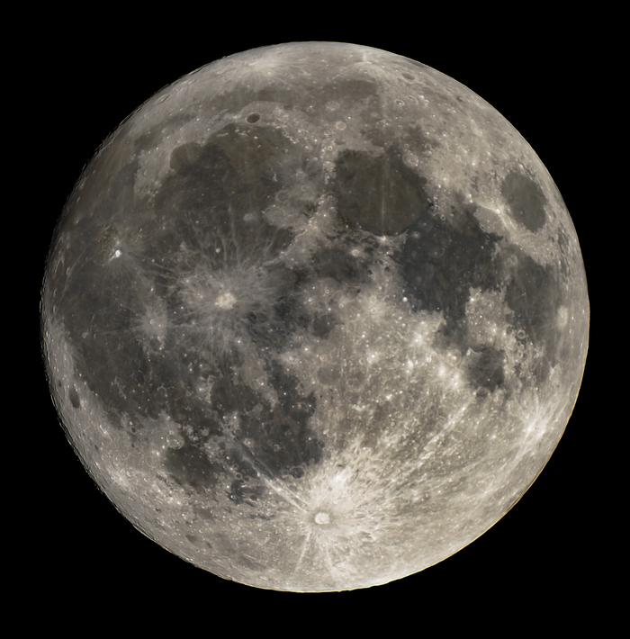 Полная Луна Луна, Полнолуние, Телескоп, Астрофото