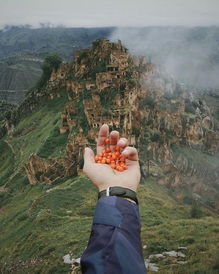 Покинутый аул Гамсутль, республика Дагестан.