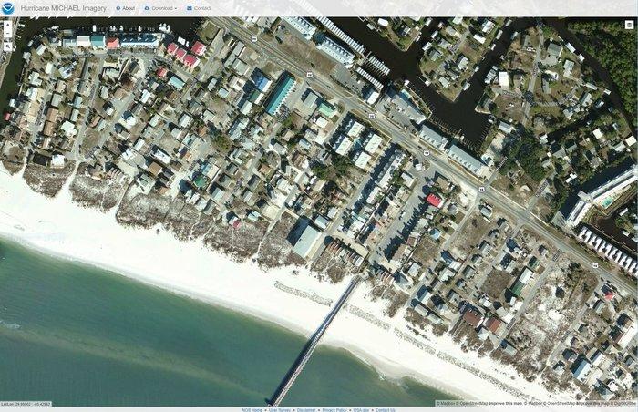 Ураган «Майкл» фото со спутников до и после Ураган, Спутник, Последствия