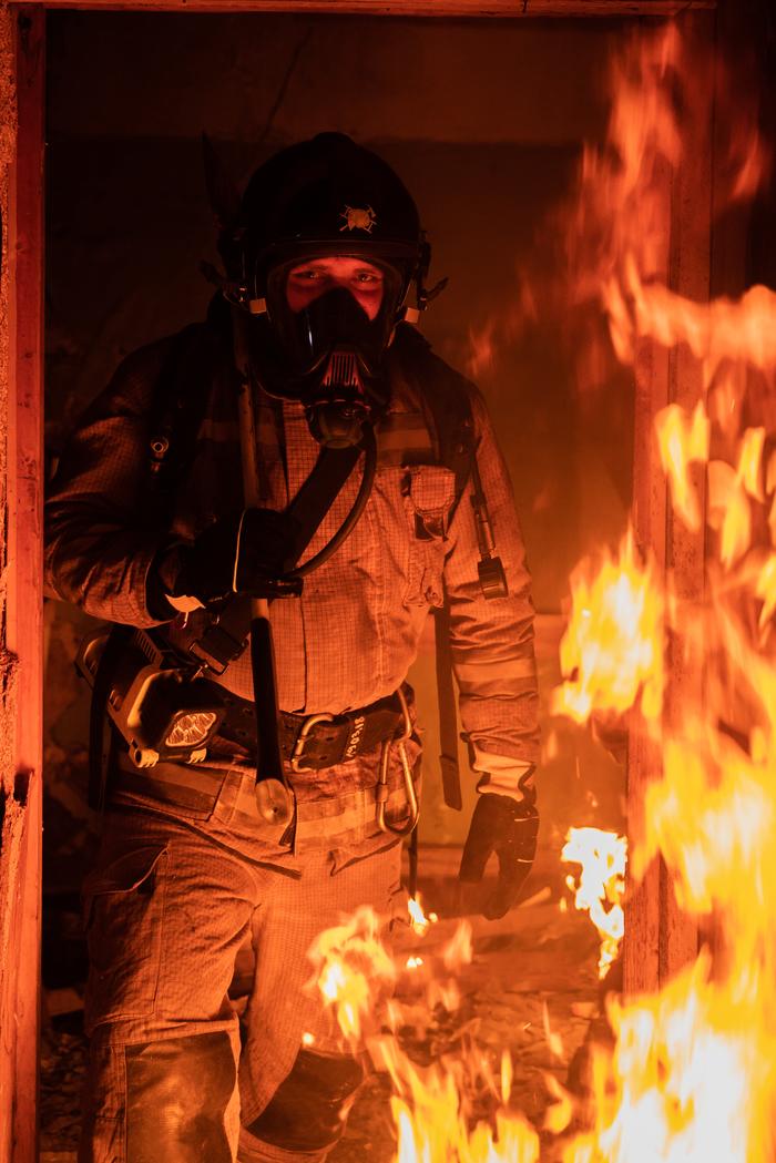 Работа пожарного Пожарный, Пожар, Огонь, Длиннопост, Фотография