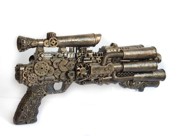 Неизвестное оружие Стимпанк, Не стимпанк, Оружие, Имитация, Ручная работа, Steampunks, Своими руками, Длиннопост