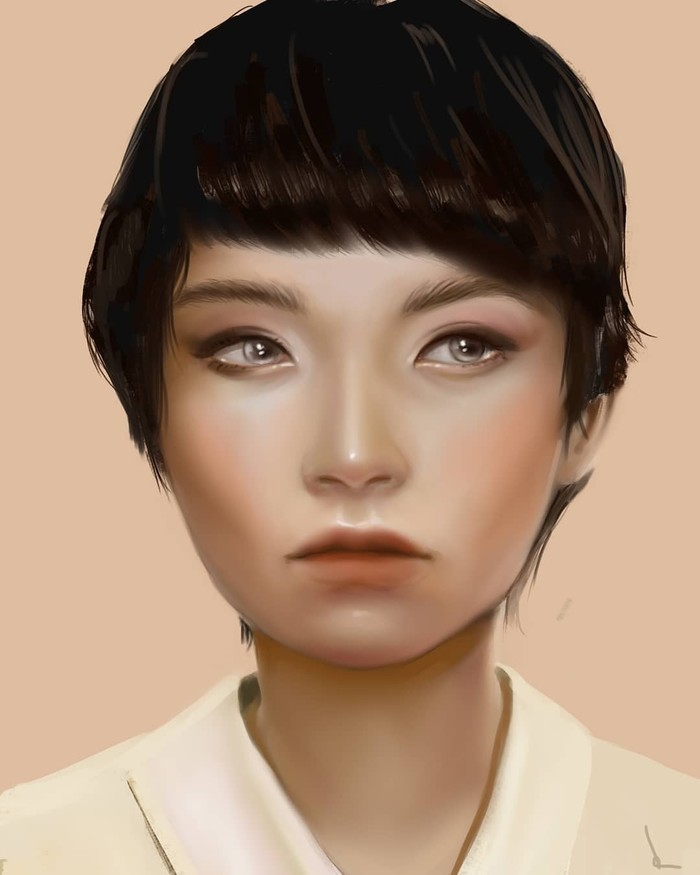 Gril asian