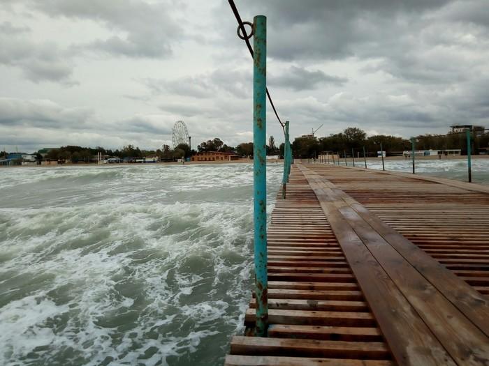 Анапа красива и осенью Анапа, Осень, Фотография, Море, Шторм, Длиннопост