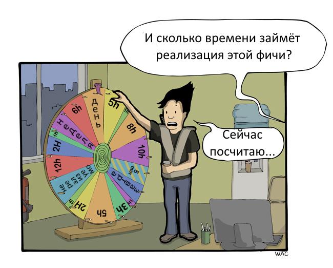 В муках выбора срока реализации Commitstrip, Комиксы, Дедлайн