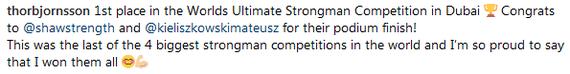 Хафтор Бьёрнссон - абсолютный чемпион Игра престолов, Хафтор Бьёрнсон, Григор Клиган, Стронгмен, Победа, Длиннопост