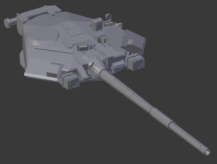 Моделирую Т-90А для игры. Инди, Gamedev, Графика, Игры, Unity, Blender, Видео, Длиннопост
