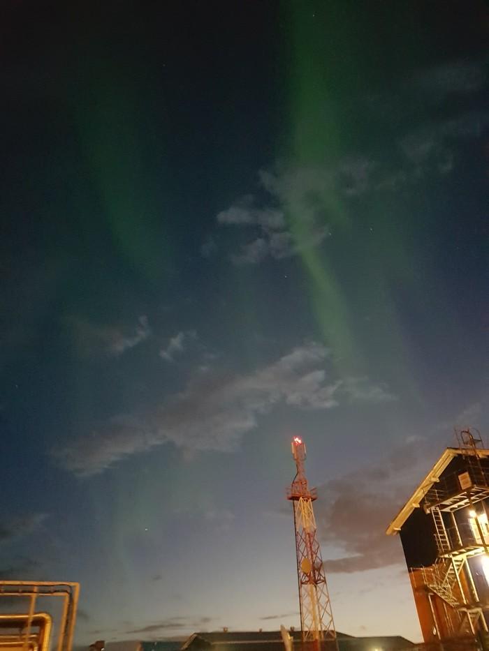 Северное сияние, на Саббете 4 сентября 2018 г. ОАО Ямал СПГ, Саббета, Вахта, Длиннопост