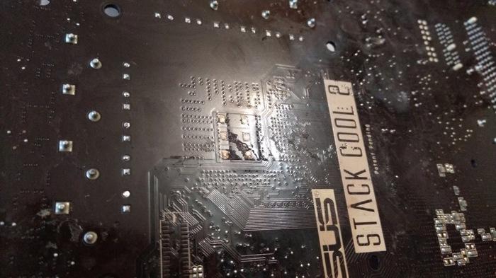 """Ремонт мамки после """"специалистов"""" из сервисного центра ASUS, Материнская плата, Lga 775, Замена сокета Горе сервис, Длиннопост"""