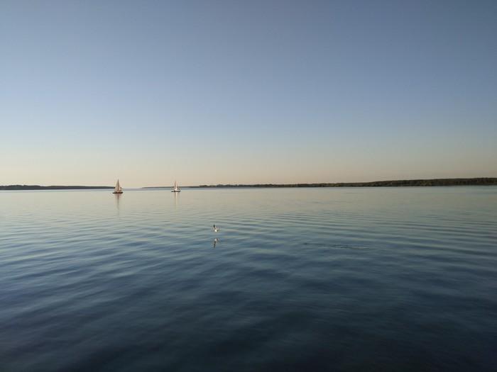 Вечерняя Волга Волга, Рыбинск, Фотография, Вечер