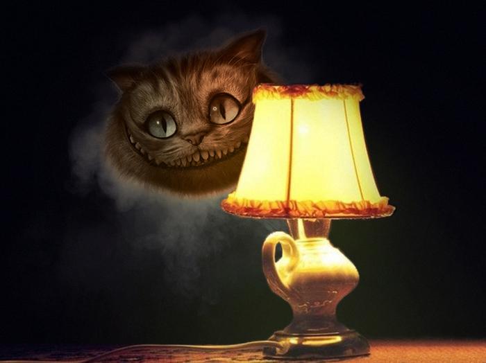 Котолампы на выбор Гарфилд, Гав, Кот в сапогах, Кот с лампой, Чеширский кот, Photoshop, Фотошоп мастер, Длиннопост, Кот