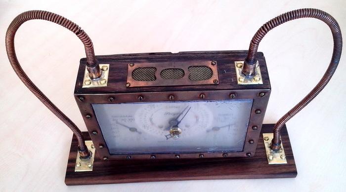 Барометр-термометр-гигрометр. Стимпанк. Рукоделие без процесса, Ручная работа, Барометр, Термометр, Гигрометр, Стимпанк, Длиннопост