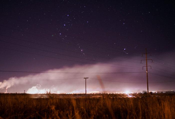 Вечера Начинающий фотограф, Nikon d3300, Звездное небо, Поле, Длиннопост