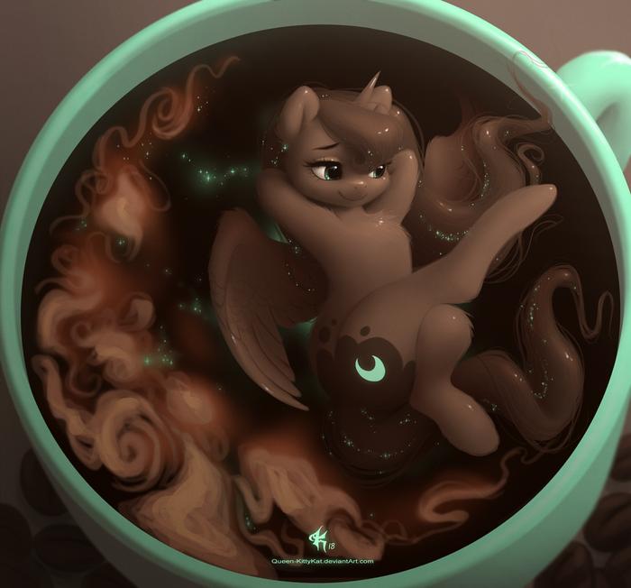 Cosmic Latte My Little Pony, Princess Luna, Кофе, Латте, Queen-Kittykat