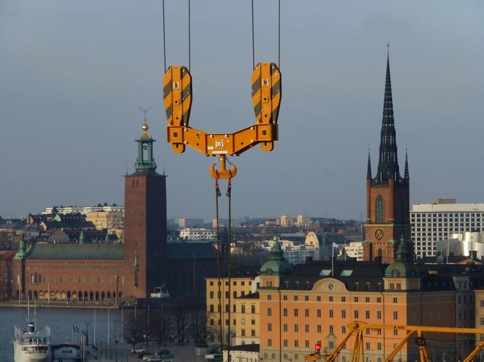Стокгольм, глазами крановщика. Кран, Стокгольм, Швеция, Город, Длиннопост, Фотография