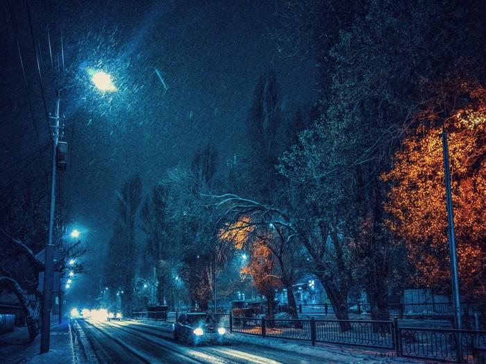 Снегопад в Саратове Саратов, Снегопад, Мобильная фотография