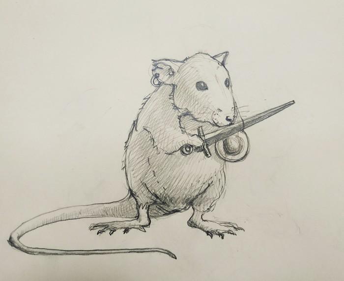 Крыс с мечом и баклером