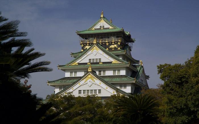 Сооружения. Япония/Китай Фотография, Постройки, Замок, Япония, Лес, Китай, Пагода, Длиннопост