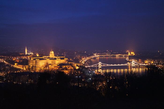 Вечерний Будапешт. Венгрия, Будапешт, Декабрь, Длиннопост, Фотография